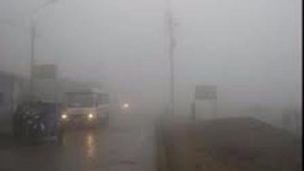 Una densa neblina cubre la carretera Arequipa Puno