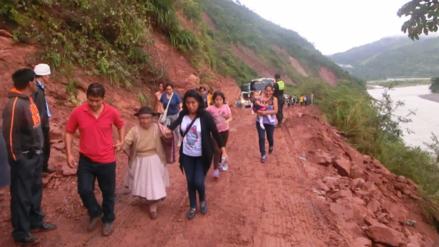 Tarma: huaico interrumpe tránsito en vía Huayaonioc - Huasahuasi - RPP Noticias