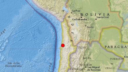 Un sismo de 5.9 grados de magnitud se registró en Chile
