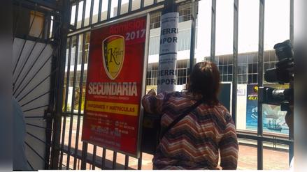 Trujillo: cerraron más centros de estudios por inseguros