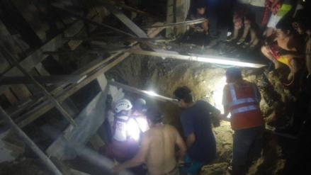 Huanchaco: luego de tres horas rescatan cuerpos de obreros sepultados