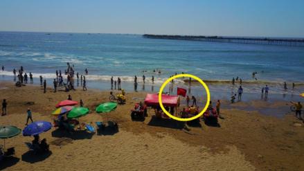 Con bandera roja Marina alerta a veraneantes sobre oleajes anómalos