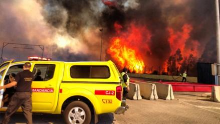Un nuevo incendio forestal afectó Valparaíso en Chile