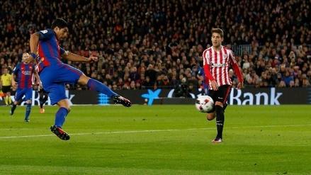 Luis Suárez llegó a los 100 goles con la camiseta del Barcelona