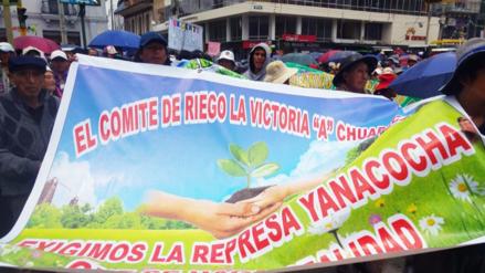 Huancayo: pobladores realizan marcha de sacrificio por represa de Yanacocha