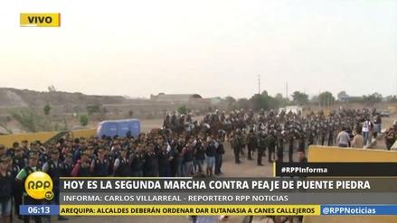 Dos mil policías resguardan la Panamericana Norte por marcha contra el peaje
