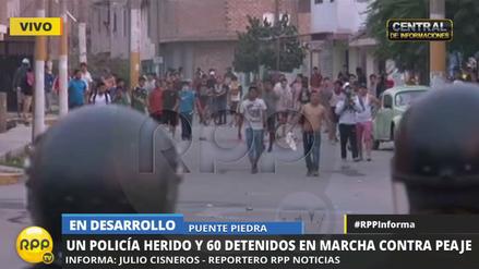 La Policía detuvo a más de 60 personas en marcha en Puente Piedra