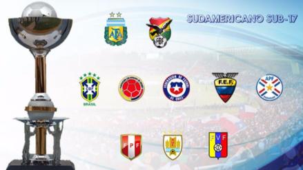 Perú quedó dentro del grupo B con Brasil y Argentina en el Sudamericano Sub-17