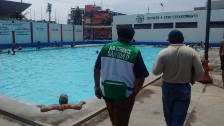 Hasta ahora solo siete piscinas califican como saludables en Chiclayo