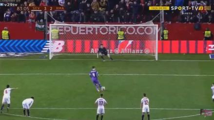 Sergio Ramos se lució al rematar un penal a lo Panenka para el Real Madrid