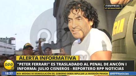 'Peter Ferrari' fue recluido en el penal Ancón I