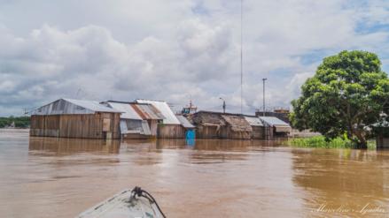 Pobladores en alerta por incremento del río Huallaga por lluvias