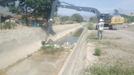 Chiclayo: Realizan limpieza a Canal Taymi en Pátapo