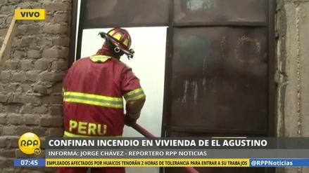 Un incendio consumió una vivienda en El Agustino