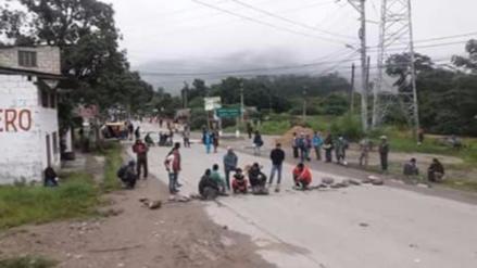 Chanchamayo: cafetaleros bloquean Carretera Central durante paro