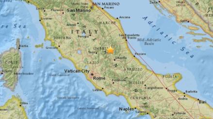 Un fuerte sismo de 5,3 grados remeció el centro de Italia