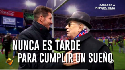 Atlético de Madrid dio emotiva sorpresa a sus socios más antiguos