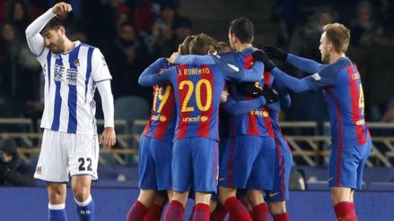 Barcelona venció a Real Sociedad y logró su tercer triunfo consecutivo