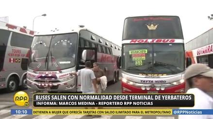Buses salen con normalidad de Yerbateros tras desbloqueo de la vía