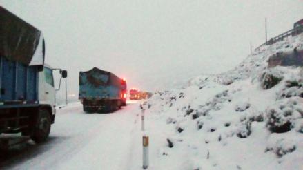 Ticlio: pase restringido en la Carretera Central por caída de nieve