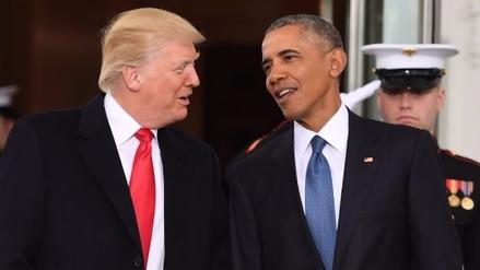 Trump se reunió con Obama antes del cambio de mando