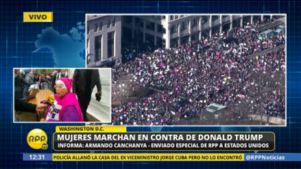 Decenas de miles de personas protestan contra Trump en la 'Marcha de las Mujeres'