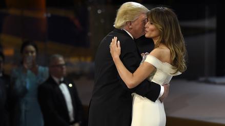 Donald y Melania Trump celebraron su primer baile presidencial