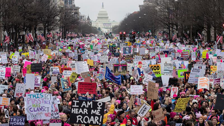 Las imágenes que deja la multitudinaria Marcha de las Mujeres'