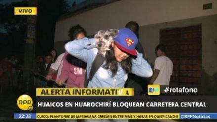 Un nuevo huaico se registró esta noche en Huarochirí