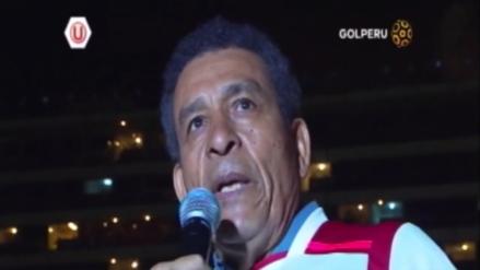 Héctor Chumpitaz fue homenajeado por Universitario en la Noche Crema