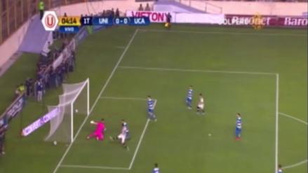 La jugada de Figuera y Vargas que casi termina en gol para la U