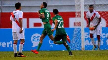 Perú cayó 2-0 ante Bolivia en el Sudamericano Sub-20
