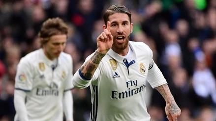Real Madrid volvió al triunfo ante Málaga con un doblete de Sergio Ramos