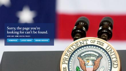 Donald Trump cerró la página web de la Casa Blanca en español