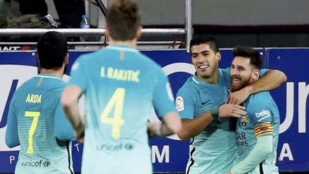 Barcelona goleó al Eibar y se pone a dos puntos del Real Madrid