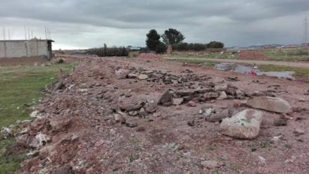 Juliaca: bloquearon acceso al botadero de basura en el sector Chilla