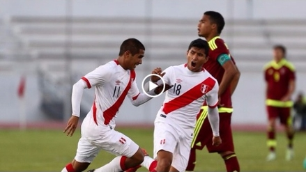 Gol de Roberto Siucho en empate 1-1 de Perú y Venzuela Sub-20