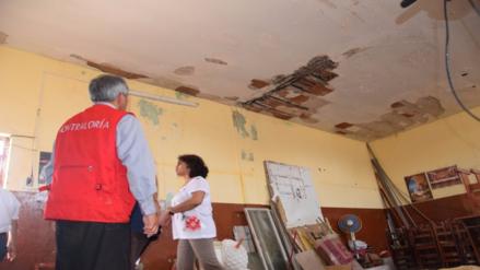 Contraloría visitó colegio donde parte de techo se desplomó repentinamente