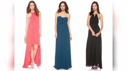 Telas para vestidos de fiesta largos