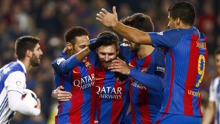 Barcelona goleó a Real Sociedad y está en semifinales de la Copa del Rey