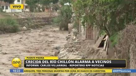 La crecida del río Chillón alarma a los vecinos de Puente Piedra