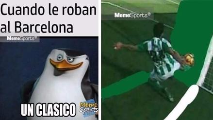 Divertidos memes dejó el empate 1-1 entre Barcelona y Betis