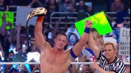 John Cena es el nuevo campeón de la WWE en Royal Rumble 2017