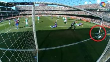 No le validaron un gol legítimo al Barcelona ante Betis
