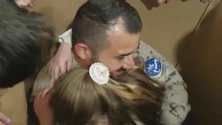 La sorpresa de un militar español a su hija conmueve en Facebook