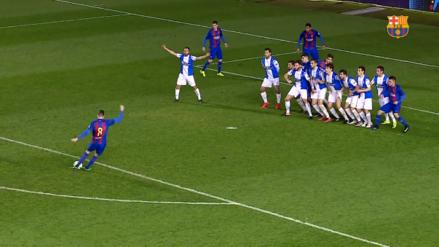 El golazo de un jugador del Barcelona B tras el consejo de Rivaldo