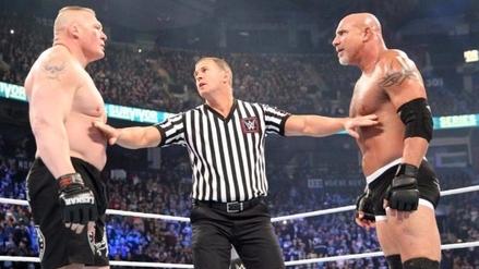 Goldberg eliminó a Brock Lesnar en 30 segundos de Royal Rumble 2017