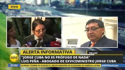 """Luis Peña: """"Jorge Cuba no es prófugo de nada"""""""