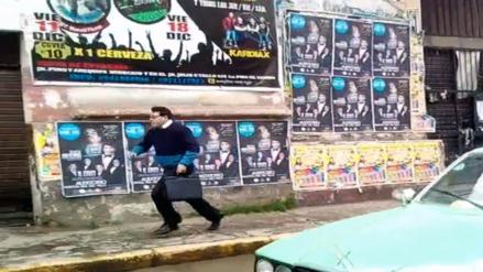 Gerente de la municipalidad de Huancayo escapa de turba que lo intentaba agredir