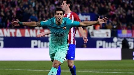 Luis Suárez se llevó a dos defensas y anotó golazo para Barcelona